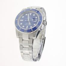 Rolex Submariner Swiss Cal 3135 Movement Ceramic Bezel with Blue Dial S/S-Super Luminous