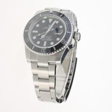 Rolex Submariner Swiss Cal 3135 Movement Ceramic Bezel with Black Dial S/S-Super Luminous