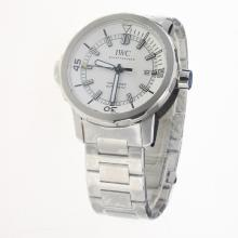 IWC Aquatimer Swiss ETA 2836 Movement with White Dial S/S