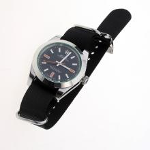 Rolex Milgauss Automatic with Black Dial-Nylon Strap