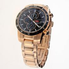 Chopard Miglia Working Chronograph Full Rose Gold with Black Dial