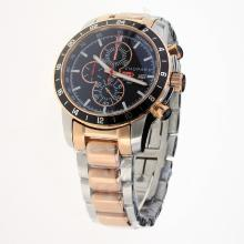 Chopard Miglia Working Chronograph Two Tone with Black Dial
