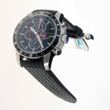 Chopard Miglia Working Chronograph with Black Dial-Rubber Strap
