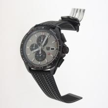 Tag Heuer Carrera Calibre 16 Working Chronograph PVD Case with Gray Dial-Rubber Strap