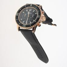 Blancpain Fifty Fathoms Working Chronograph Rose Gold Case White Markers with Black Dial-Nylon Strap