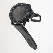 Blancpain Fifty Fathoms Working Chronograph PVD Case Red Markers with Black Dial-Nylon Strap