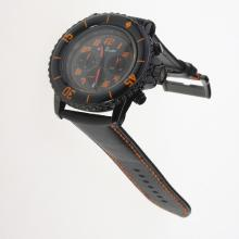 Blancpain Fifty Fathoms Working Chronograph PVD Case Orange Markers with Black Dial-Nylon Strap