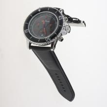 Blancpain Fifty Fathoms Working Chronograph Red Markers with Black Dial-Nylon Strap