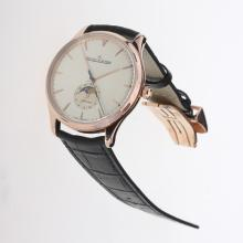 Jaeger-Lecoultre Master Control 29J Automatic Rose Gold Case with Champagne Dial-Leather Strap