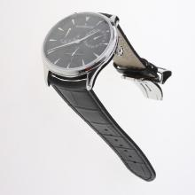 Jaeger-Lecoultre Master Control Working Power Reserve 41J Automatic with Black Dial-Leather Strap