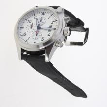 IWC Pilot Top Gun Working Chronograph with White Dial-Nylon Strap