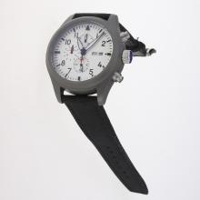 IWC Pilot Top Gun Working Chronograph Titanium Case with White Dial-Nylon Strap