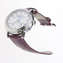 Chopard Imperiale Working Chronograph with Purple MOP Dial-Purple Leather Strap