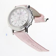 Chopard Imperiale Working Chronograph with Pink MOP Dial-Pink Leather Strap