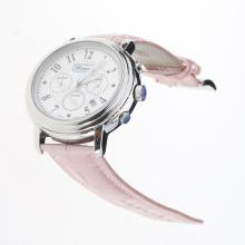 Chopard Imperiale Working Chronograph with MOP Dial-Pink Leather Strap