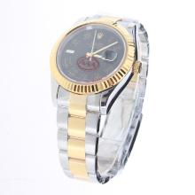 Rolex Datejust II Automatic Two Tone Roman Markers with Black Dial