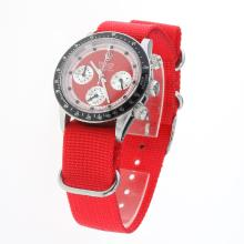 Rolex Daytona Working Chronograph Red Dial with Nylon Strap-Vintage Edition