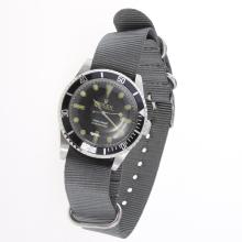 Rolex Submariner Automatic Black Dial with Nylon Strap-Vintage Edition-3
