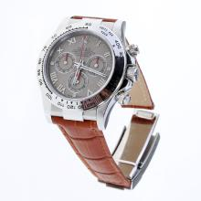 Rolex Daytona Swiss Calibre 4130 Chronograph Movement Roman Markers with Meteorite Dial-Leather Strap
