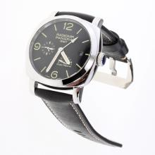 Panerai Radiomir Working GMT Automatic with Black Checkered Dial-Leather Strap-1
