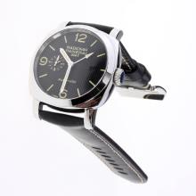 Panerai Radiomir Working GMT Automatic with Black Checkered Dial-Leather Strap