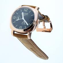 Panerai Radiomir Working Power Reserve Automatic Rose Gold Case with Black Checkered Dial-Leather Strap