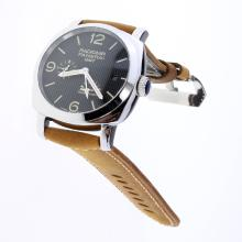 Panerai Radiomir Working Power Reserve Automatic with Black Lines Dial-Leather Strap