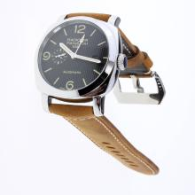 Panerai Radiomir Working GMT Automatic with Black Lines Dial-Leather Strap