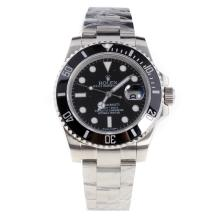Rolex Submariner Swiss Cal 3135 Movement Ceramic Bezel with Black Dial S/S