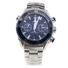 Omega Seamaster Swiss Chronometer Calibre 9900 Automatic Movement Ceramic Bezel with Black Dial S/S