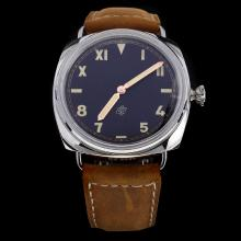 Panerai Radiomir Swiss Calibre P.3000 Manual-winding Movement with Black Dial-Leather Strap-1