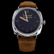 Panerai Radiomir Swiss Calibre P.3000 Manual-winding Movement with Black Dial-Leather Strap