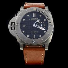 Panerai Luminor Submersible Swiss Calibre P.9000 Automatic Movement Black Dial with Leather Strap-Lefty Version