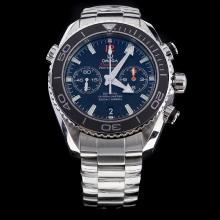 Omega Seamaster Swiss 9300 Chronograph Automatic Movement Black Bezel with Black Dial S/S