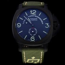 Panerai Radiomir Automatic PVD Case with Black Dial-Nylon Strap
