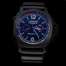 Panerai Luminor Regatta Automatic PVD Case with Black Dial-Rubber Strap