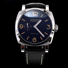 Panerai Radiomir Automatic with Black Dial-Leather Strap