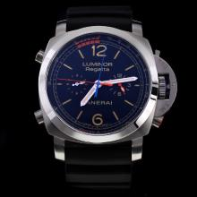 Panerai Luminor Regatta Automatic with Black Dial-Rubber Strap