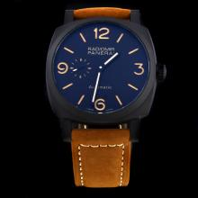 Panerai Radiomir Automatic PVD Case with Black Dial-Leather Strap-1