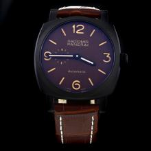 Panerai Radiomir Automatic PVD Case with Brown Dial-Leather Strap