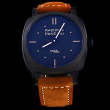 Panerai Radiomir Automatic PVD Case with Black Dial-Leather Strap