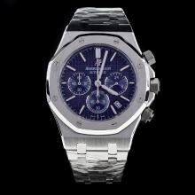 Audemars Piguet Royal Oak Working Chronograph Stick Markers with Blue Dial S/S