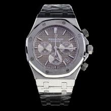 Audemars Piguet Royal Oak Working Chronograph Stick Markers with Gray Dial S/S