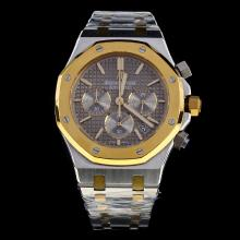 Audemars Piguet Royal Oak Working Chronograph Two Tone Stick Markers with Gray Dial