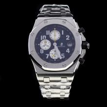 Audemars Piguet Royal Oak Offshore Working Chronograph Number Markers with Black Dial S/S-Same Chassis as 7750 Version-2