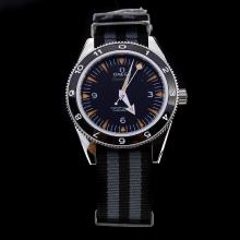 Omega Seamaster Automatic with Black Dial-Nylon Strap-1