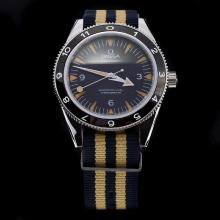 Omega Seamaster Automatic with Black Dial-Nylon Strap