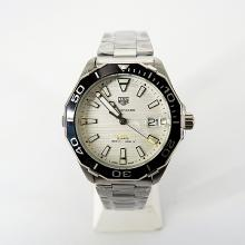 Tag Heuer Aquaracer Calibre 5 Ceramic Bezel Stick Markers with White Dial S/S