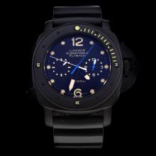Panerai Lumior Submersible Automatic PVD Case with Black Dial-Rubber Strap