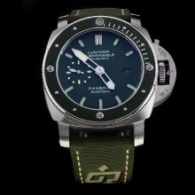 Panerai Lumior Submersible Automatic with Green Dial-Nylon Strap